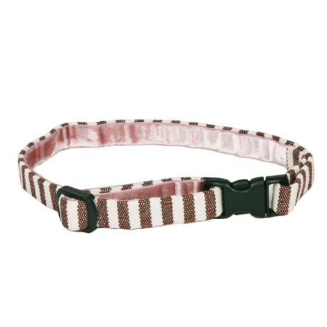 Stripey Brown/White Cat Collar