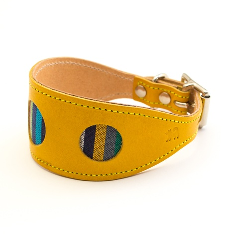 Kikoy Botanical Stripe Hound Collar 2