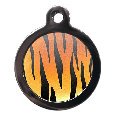 Tiger Print Pet ID Tag