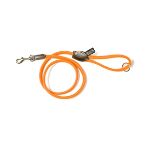 D&H Rolled Leather Lead - Orange