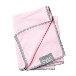 Microfibre Drying Towel for Puppies - Pink and Grey