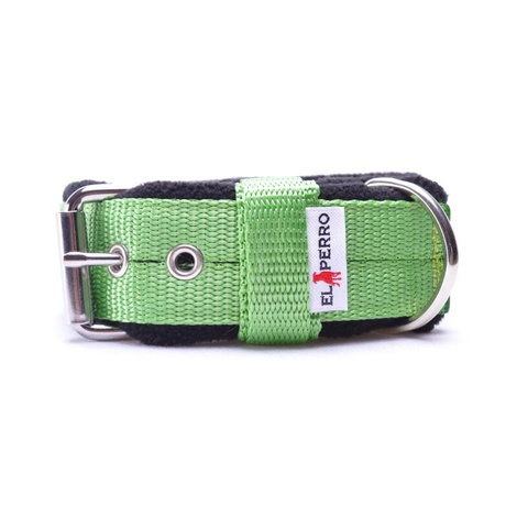 4cm width Fleece Comfort Dog Collar - Lime