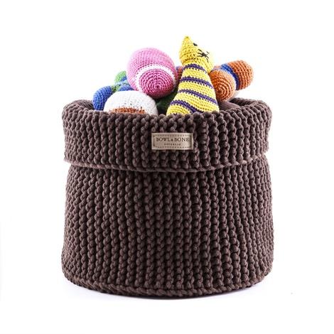 Cotton Toy Basket - Brown