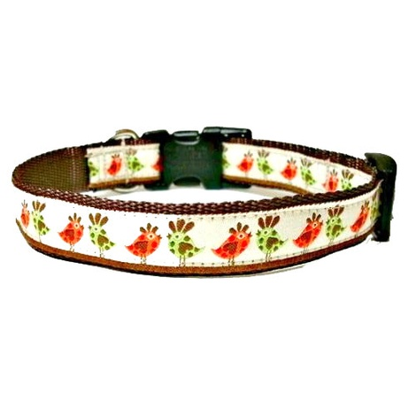 Funky Bird Small Dog Collar