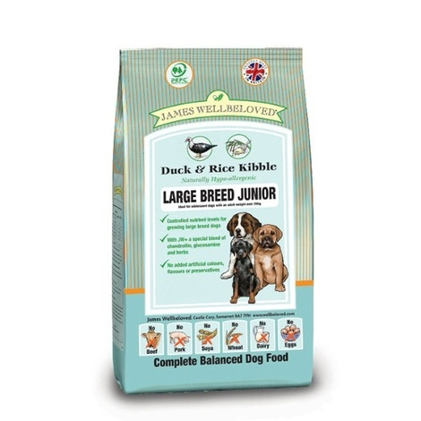 JW Junior Duck & Rice (Large Kibble) 15kg