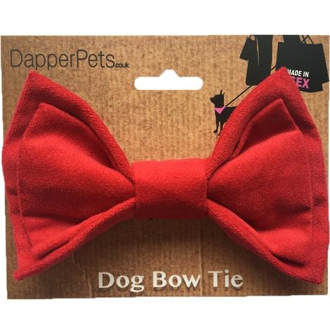 Red Velvet Dog Bow Tie 2