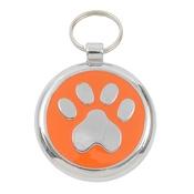 Tagiffany - Smarties Orange Paw Pet ID Tag