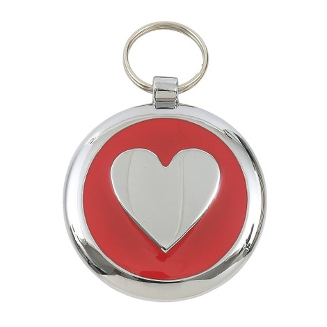 Smarties Red Heart Pet ID Tag