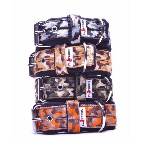 4cm width Fleece Comfort Dog Collar - Jungle Camo 3