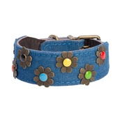 DO&G - DO&G Boho Chic Dog Collar - Dark Denim