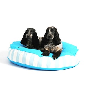 Bon Bon Soft Dog Bed - Blue Stripe