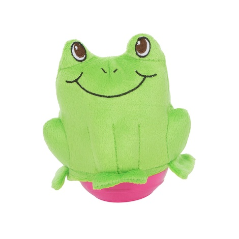 Wobblerz Plush Dog Toy – Frog