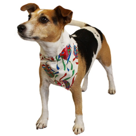 Christmas Baubles Slip on Dog Bandana