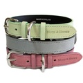 Grey Leather Dog Collar - Pastel Grey 3
