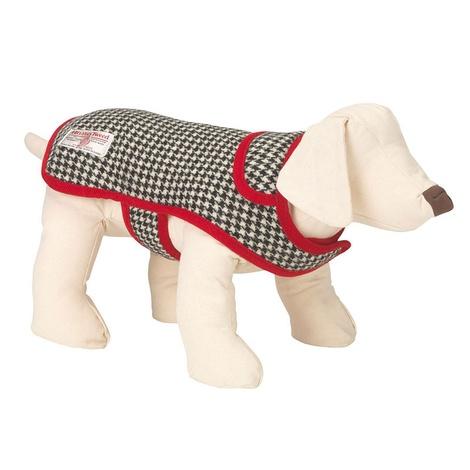 Ellesmere Red Harris Tweed Dog Coat 2