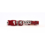 Arton & Co - Red Christmas Tree Dog Collar
