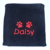 My Posh Paws - Personalised Fleece Blanket - Black