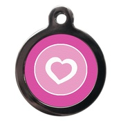 PS Pet Tags - Pretty Pink Pet ID Tag