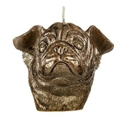 Pugs Might Fly - Winged Pug Candle - Bronze