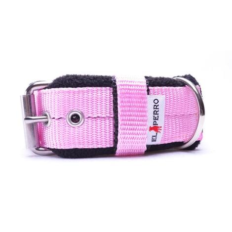 4cm width Fleece Comfort Dog Collar - Baby Pink