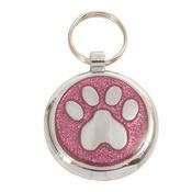 Tagiffany - Shimmer Pretty Pink Paw Pet ID Tag
