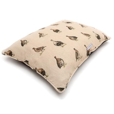 Grouse Linen Pillow bed 3