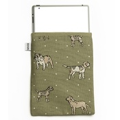 Mutts & Hounds - Dogs Linen Tablet Case - Green