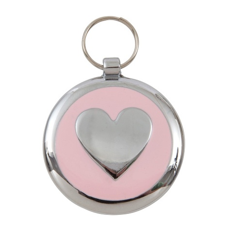 Smarties Light Pink Heart Pet ID Tag