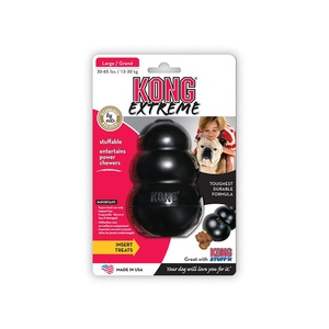 Kong Extreme Rubber Toy – Black