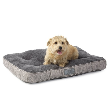 Grey Hessian Boxed Duvet Dog Bed