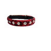 Hem & Boo - Leopard Print Cat Collar - Red