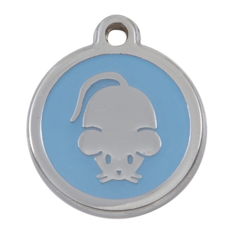 My Sweetie Light Blue Mouse Pet ID Tag