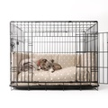 Dog Crate Mattress & Bed Bumper Set - Dotty Taupe