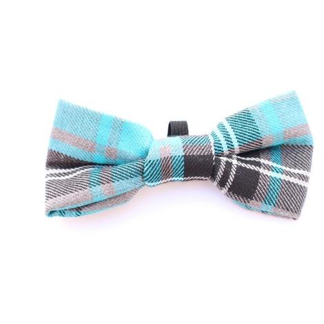 Blue Tartan Bow Tie