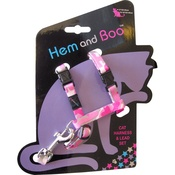 Hem & Boo - Pink Camouflage Cat Harness & Lead Set