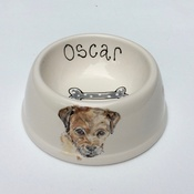 Purple Glaze Pottery - Small Personalised Dog Bowl
