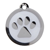 Tagiffany - My Sweetie White Paw Pet ID Tag