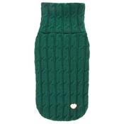 Chihuy - Green Braided Luxury Dog Sweater
