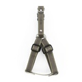 Grey Leather Dog Harness