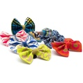 Geo Blue Dog Bow Tie 3