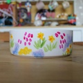 Personalised Meadow Flowers Cat Bowl 2