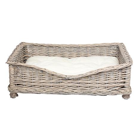 Square Willow Pet Basket