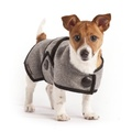 Grey Wool Blazer Dog Coat