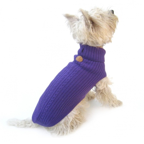 Purple Cable Knit Jumper 2