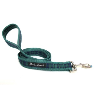Green Tartan Dog Lead