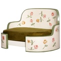 White & Green English Country House Dog Sofa