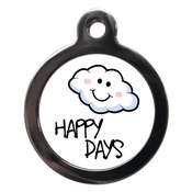 PS Pet Tags - Happy Cloudy Days Dog ID Tag