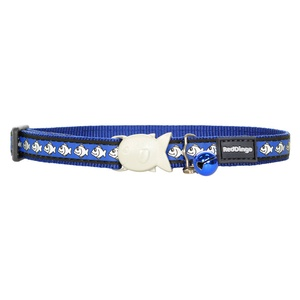 Dark Blue Reflective Cat Collar