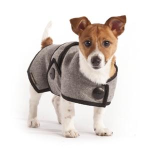 Grey Wool Blazer Dog Coat