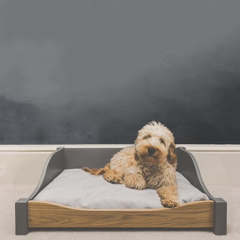 LUXURY WOODEN DOG BED - MEDIUM
